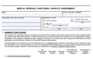 Residual Functional Capacity Form, RepresentMyself